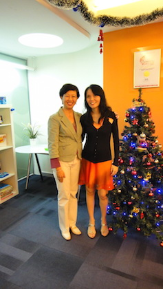 Cheryl Chia, Founder of BrainFit Studio[right] with Liza Tay, our guest speaker.
