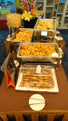 Food for our dear celebrants and visitors.