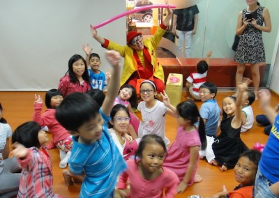 Our dear celebrants having fun with our Clown entertainer Uncle Jimmy.