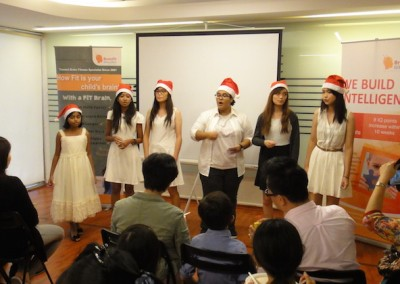 Our guest carolers entertaining our dear celebrants